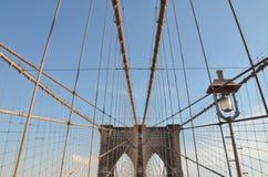 Brooklyn Bridge in the winter, NYC Stock Image