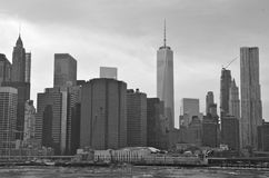 Brooklyn Bridge in the winter, NYC Royalty Free Stock Photos