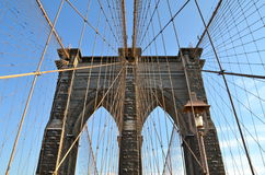 Brooklyn Bridge in the winter, NYC Stock Photos