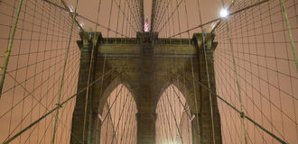 Brooklyn Bridge Wires Royalty Free Stock Photo
