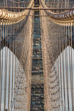 Brooklyn bro - detalj New York City, NY royaltyfri bild