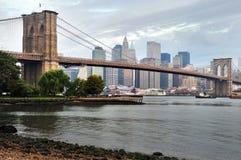 Brooklyn bro i Manhattan New York Arkivfoto