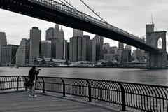 Brooklyn bro i Manhattan New York City Royaltyfri Foto