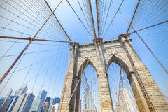 Brooklyn bro i New York City, USA Arkivfoton