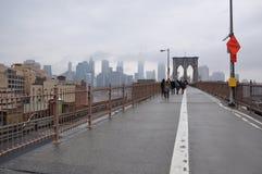 Brooklyn bro Manhattan, nowy jork Royaltyfri Bild