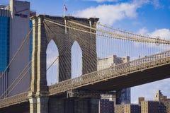 Brooklyn bro New York - en berömd gränsmärke MANHATTAN - NEW YORK - APRIL 1, 2017 Royaltyfria Bilder