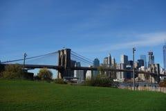 Brooklyn bro New York Manhattan Hudson River Royaltyfria Bilder