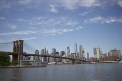 Brooklyn bro - New York - vue Du Pont de brooklyn Fotografering för Bildbyråer