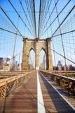 Brooklyn bro på soluppgång, New York Arkivbild