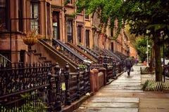 Brooklyn Brownstones Stock Photography