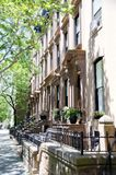 Brooklyn Brownstones Stock Photography