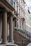 Brooklyn Brownstones. A stately row of Brooklyn brownstone homes stock image