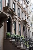 Brooklyn Brownstones. A stately row of Brooklyn brownstone homes royalty free stock photography