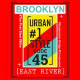 Brooklyn city/nyc Typography Design for t-shirt. Typography for t-shirt,vector illustration art,new design Royalty Free Stock Photography