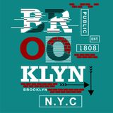 Brooklyn city/nyc Typography Design for t-shirt. Typography for t-shirt,vector illustration art,new design Stock Photos