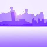 Brooklyn dawn. Brooklny horizon line at dawn Stock Images