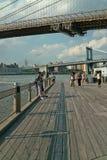 brooklyn färjafulton landning New York Royaltyfri Fotografi