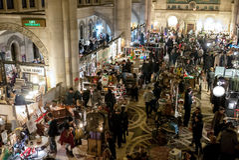 Brooklyn Flea Market indoor location Stock Images