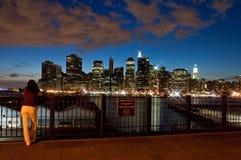 Brooklyn-Höhen-Promenade Lizenzfreie Stockfotos