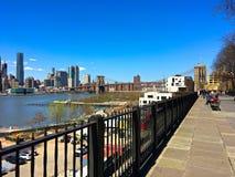 Brooklyn Heights promenad, Brooklyn, New York arkivbild