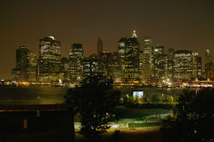 Brooklyn Heights view of Manhattan New York Royalty Free Stock Photography