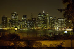 Brooklyn Heights view of Manhattan New York USA Royalty Free Stock Images