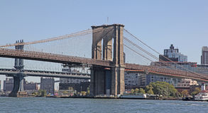 Brooklyn i Manhattan mosty, NYC Zdjęcia Stock