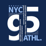 Brooklyn koszulki grafika Obraz Royalty Free