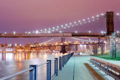 Brooklyn and Manhattan bridge Royalty Free Stock Image
