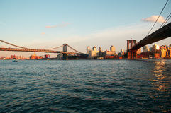 Brooklyn and Manhattan bridge Stock Image
