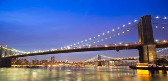 Brooklyn and Manhattan Bridges Stock Photos