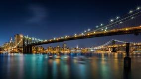 Brooklyn and Manhattan Bridges Royalty Free Stock Images