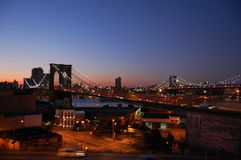 Brooklyn and Manhattan Bridges, New York Stock Photography