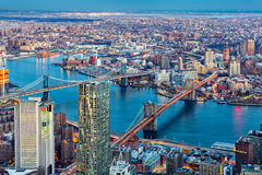 Brooklyn and Manhattan bridges Royalty Free Stock Image
