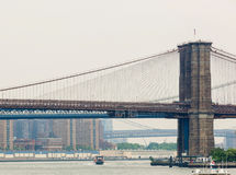 Brooklyn and Manhattan bridges Royalty Free Stock Photos