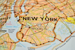 Brooklyn map Royalty Free Stock Images
