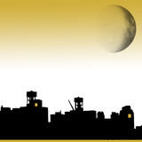 Brooklyn with moon. Background graphic Royalty Free Stock Photo