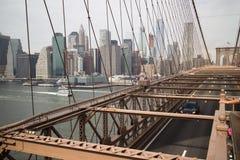 Brooklyn most w nowym Jorku Zdjęcia Royalty Free