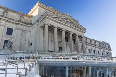 Brooklyn Museum In Winter Stock Image