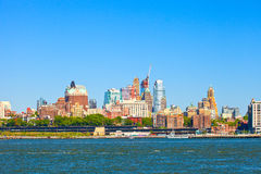 Brooklyn New York. Buildings cityscape on a beautiful day with blue sky Royalty Free Stock Photos