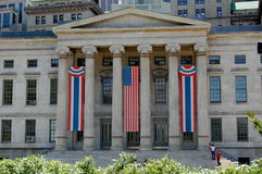 Brooklyn, New York, City Hall decorated for July 4 Stock Photography