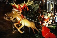 BROOKLYN, NEW YORK - 20 de dezembro de 2017 - luzes de Natal das alturas de Dyker é decorada para o feriado      para Fotografia de Stock Royalty Free