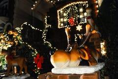 BROOKLYN, NEW YORK - 20 de dezembro de 2017 - luzes de Natal das alturas de Dyker é decorada para o feriado      para Fotos de Stock Royalty Free