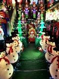 BROOKLYN, NEW YORK - 20 de dezembro de 2017 - luzes de Natal das alturas de Dyker é decorada para o feriado      para Imagens de Stock Royalty Free