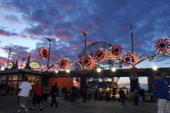 BROOKLYN, NEW YORK - 31 de maio Coney Island Luna Park Fotografia de Stock