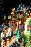 BROOKLYN, NEW YORK - DECEMBER 20, 2017 - Dyker Heights Christmas Lights are decorated for the holiday for. BROOKLYN, NEW YORK - DECEMBER 20, 2017 - Dyker Heights royalty free stock image