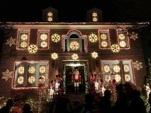 BROOKLYN, NEW YORK - DECEMBER 20, 2017 - Dyker Heights Christmas Lights are decorated for the holiday for. BROOKLYN, NEW YORK - DECEMBER 20, 2017 - Dyker Heights stock photos