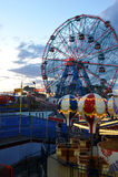 BROOKLYN, NEW YORK - 31. MAI: Wunder-Rad am Coney Island-Vergnügungspark Lizenzfreie Stockbilder