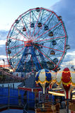 BROOKLYN, NEW YORK - MAY 31: Wonder Wheel at the Coney Island amusement park Stock Photo