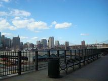 Brooklyn, New York. A walk along the Hudson River in Brooklyn stock photography